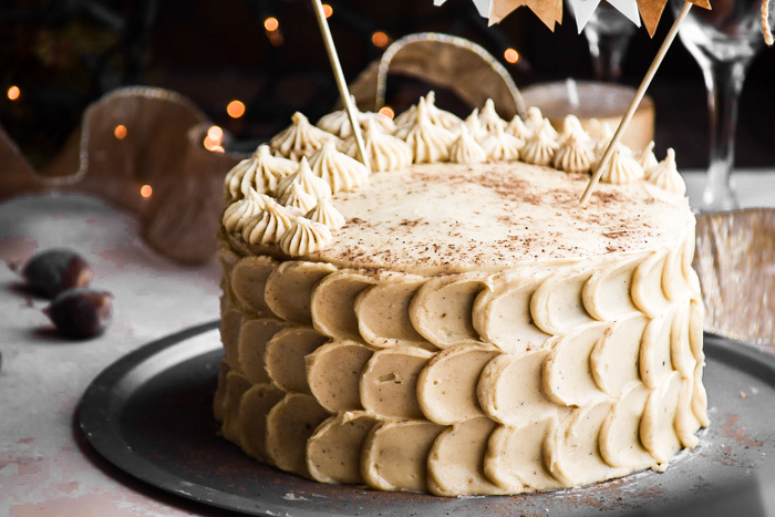 Chestnut Cake + Eggnog Buttercream Frosting (2)