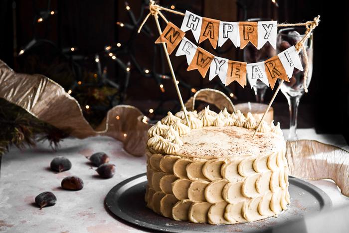 Chestnut Cake + Eggnog Buttercream Frosting (3)