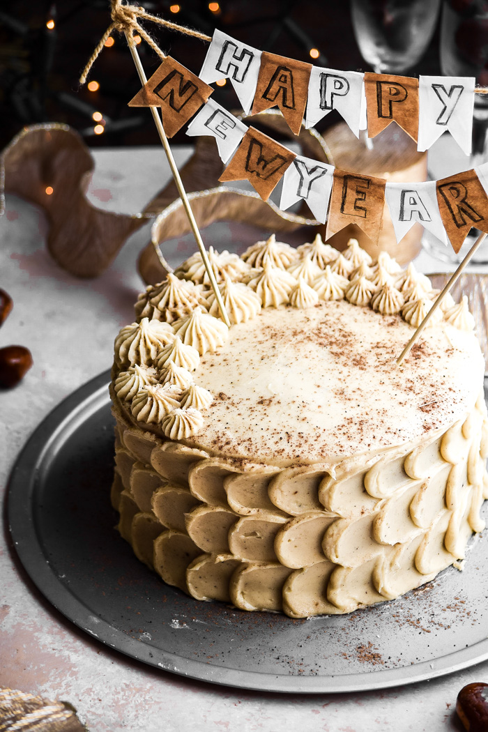 Chestnut Cake + Eggnog Buttercream Frosting (5)