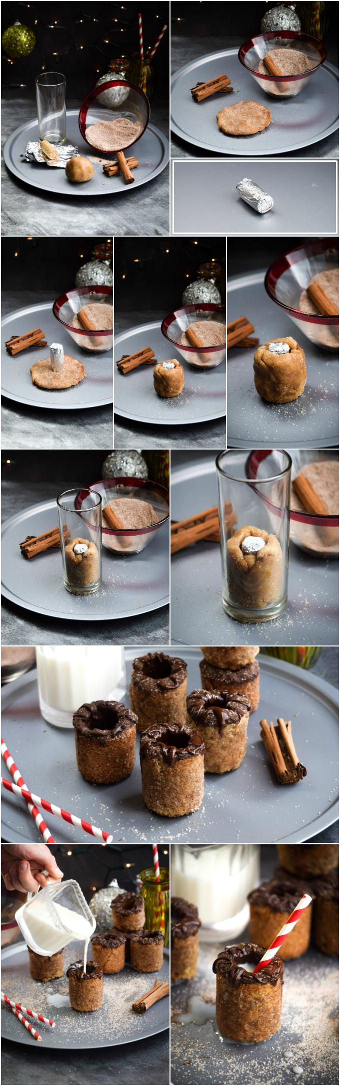 How To Make Chocolate Coated Snickerdoodle Milk & Cookie Shots