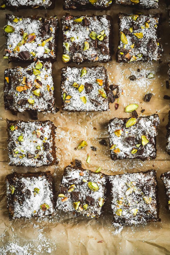 Chunky Dark Chocolate Coconut & Pistachio Brownies (2)