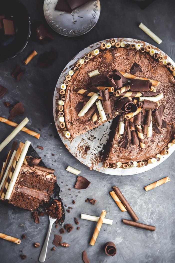 Nutella Cheesecake Dark Chocolate Overload Cake (10)