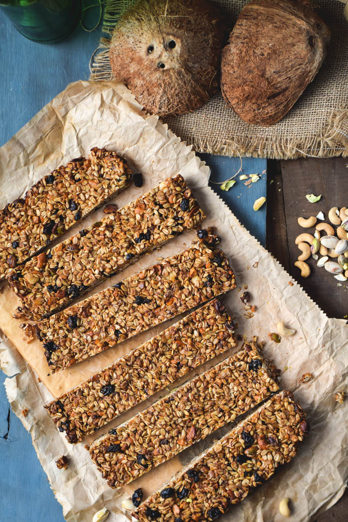Tiki Bars! Nutty Tropical Fruit Granola Bars (Vegan + GF) (3)