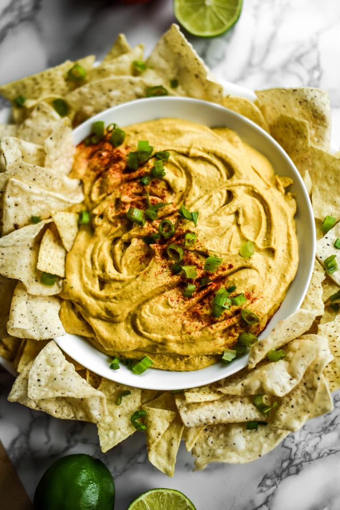 Easy Nacho Cheese Dip Vegan Gf